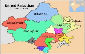 Integration of Rajasthan