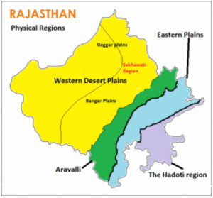 Relief and structure of Rajasthan