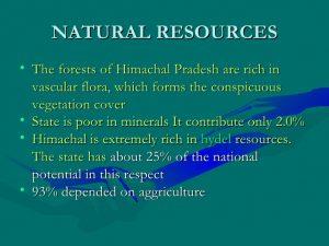 Natural & Power Resource of Himachal Pradesh